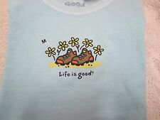 LIFE IS GOOD Girl's Daisy Boots Tee Shirt (S,M) NWT