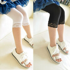 Candy Color Baby Kids Girls Lace Velvet Skinny Slim Tights Stretchy Pant 5-9Y