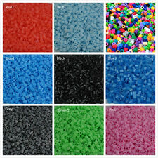 HAMA PERLER Craft 1000pcs Free PP BEADS Interesting 17 Single Color Kids Fun