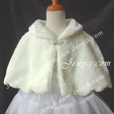 #P4 Flower Girl Formal Pageant Poncho Ivory 0 3 6 9 12 18 24 Months 2 3 4 5T