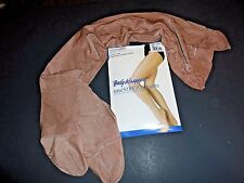 New in Pkg Body Wrappers A55/A55X Ultimate Shimmer Toast Footed Tights Shimmery