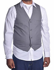 Alfani Mens Dress Sleeveless Slim Fit Plaid Grey Vest Jacket