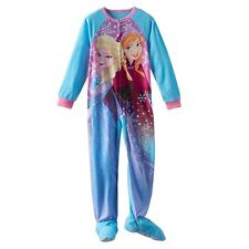 Disney's Frozen Anna & Elsa Footed Blanket Sleeper Pajamas 6 - 8 - 10 NWT $34 RV