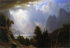 Handmade Classical Albert Bierstadt Oil Painting repro Landscape on Canvas -040