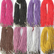 Hot Sale New Real Leather Chains Necklace Charm Finding String Cord 3mm 46cm DIY
