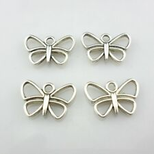 14/70/500pcs Tibetan Silver Hollow Butterfly Charms Pendants for Jewelry