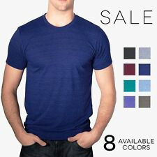 American Apparel Tri Blend T Shirt TR401 Vintage Style Track Tee Shirt 8 Colors
