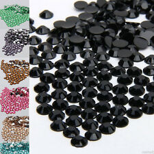 Lots Sparkling Resin Rhinestone Half Round Faceted Spacer Charms Beads DIY 2/3mm