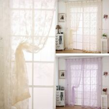 Nice Sheer Curtains Window Door Room Divider Panel Drapes Valance Scarf Assorted