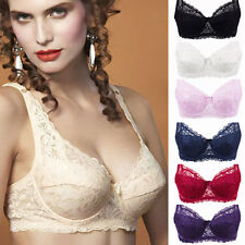 Ladies Sexy Underwired Full Coverage Minimizer non padded Lace Sheer Bra XN