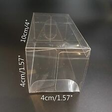 Clear Plastic PVC Boxes Party Favor Wedding Tuck Top Display Box 4x4x10cm