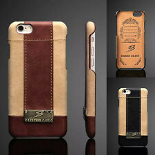 New Luxury Genuine Real Leather Case Pattern Back Cover For iPhone 6 6s 6s Plus