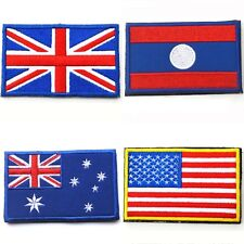 Nation Flag Emblem On Patch Embroidered Applique National Country Sew Trim   S66