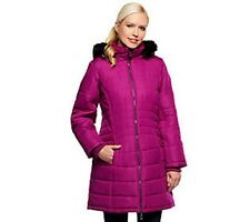 NEW SUSAN GRAVER PUFFER COAT REMOVABLE FAUX FUR TRIM HOOD  S  L XL COLORS