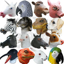 Latex Overhead Animal Fancy Party Dress Cosplay Carnival Costume Farmyard Mask