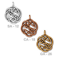 TierraCast Open Knot Pendant - pewter with antiqued finish - 29mm celtic jewelry
