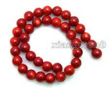 "SALE Big round High quality 12-13mm Red natural Coral loose beads strand 15""-639"