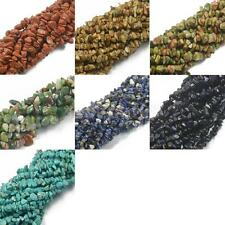 "Assorted Shape Chips Loose Gemstone Beads Strand 34"" for Jewelry Making"