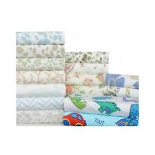 Flannel Sheet Set 4Pc Printed Flat Fitted Pillow Case Kids Teens Adults Bedroom