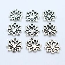 6/30/200pcs Tibetan Silver 2 Hole Flower Connectors Charms for Jewelry Findings
