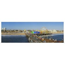 Poster Print Wall Art entitled Amusement park Santa Monica Pier Santa Monica Los