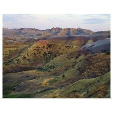 Poster Print Wall Art entitled Yellow Mounds, Badlands National Park, South