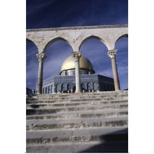 Poster Print Wall Art entitled Entrance to Dome of the Rock, Jerusalem, Israel