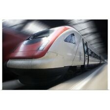 Poster Print Wall Art entitled bullet train in the station in Zurich,