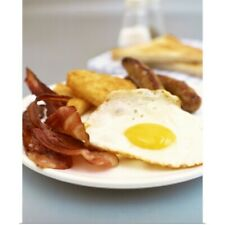 Poster Print Wall Art entitled Eggs, bacon, hashbrown and sausage