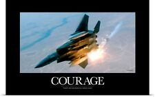 Poster Print Wall Art entitled Military Poster: An F-15E Strike Eagle pops