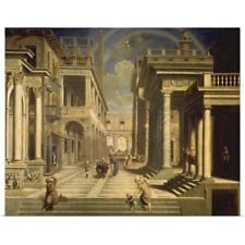 Poster Print Wall Art entitled Emperor Augustus and the Sibyl, 1535