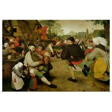Poster Print Wall Art entitled Peasant Dance, (Bauerntanz) 1568 (oil on panel)