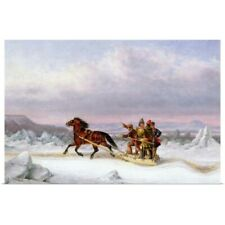 Poster Print Wall Art entitled Crossing the St. Lawrence from Levis to Quebec on