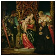 Poster Print Wall Art entitled Virgin and Child between St. Justine and St.