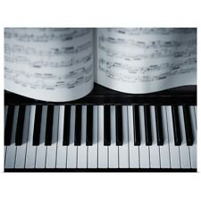 Poster Print Wall Art entitled Piano keys and music book detail.