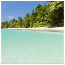 Poster Print Wall Art entitled Surface level view of a tropical beach