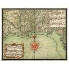 Poster Print Wall Art entitled Antique Map of the Gulf Coast, 1747