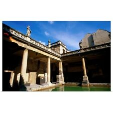 Poster Print Wall Art entitled Great Bath of Roman Baths, England