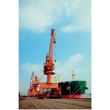 Poster Print Wall Art entitled Crane in port of china