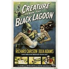 Poster Print Wall Art entitled Creature from the Black Lagoon - Vintage Movie
