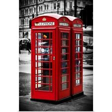 Poster Print Wall Art entitled London Calling, Phone Booths