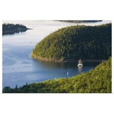Poster Print Wall Art entitled Sailboats moored in Valley Cove, Acadia National