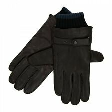 Ted Baker Mens Hoftoff Ribbed Leather Gloves (Chocolate)