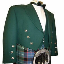 SCOTTISH MEN PRINCE CHARLIE  HIGHLAND KILT JACKET PIPERBAND HANDMADE