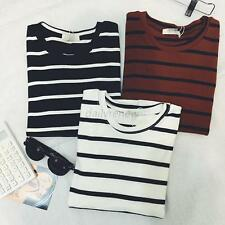 Women's Casual Ladies Stripe Short Sleeve T-shirt Shirt Tops Blouse Top Clothing