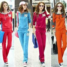 New Hot Fashion women's cotton Casual Hoodie Track suit Jacket sweat pants set