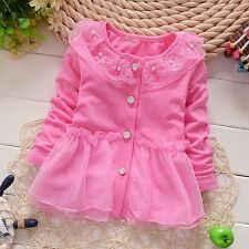 Baby clothes baby girl coat cotton lace spring cardigan baby girl Peplum Top