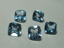 4mm to 8mm Natural Sky Blue Topaz Faceted Cushion Calibrated Size Loose Gemstone
