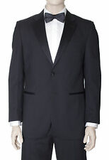 Silvio Bresciani Classic Fit Black Tonal Striped Two Button Wool Tuxedo Suit