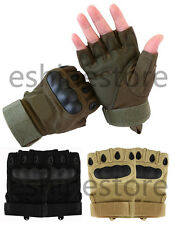 Tactical Military Airsoft Shooting Outdoor Motorcycle Armed Half Finger Gloves